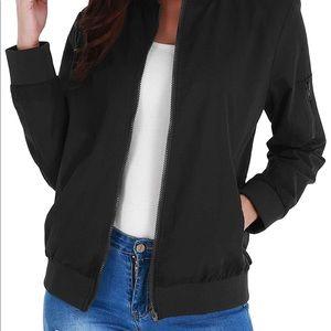 Jackets & Blazers - NWOT black bomber jacket